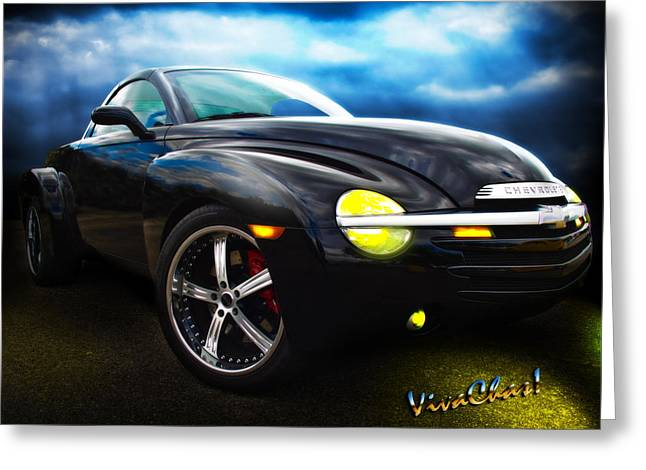 Chevy Ssr Night Life Hot Rods Live Lives All Their Own Greeting Card