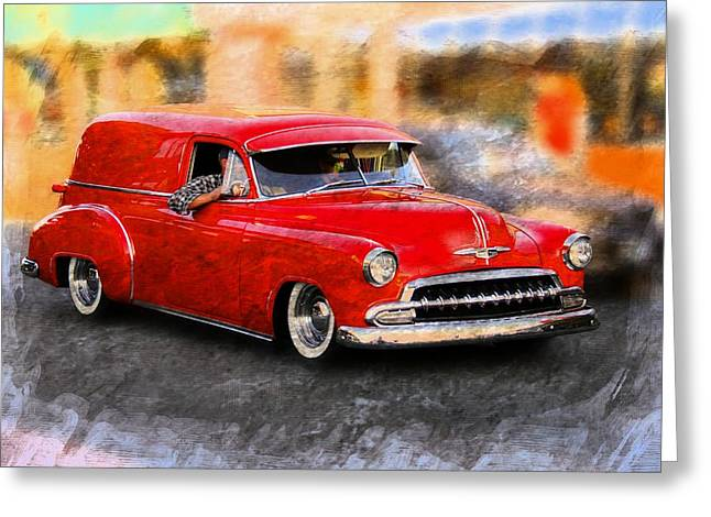 Vehicles Greeting Card featuring the photograph Chevy Street Rod by Aaron Berg