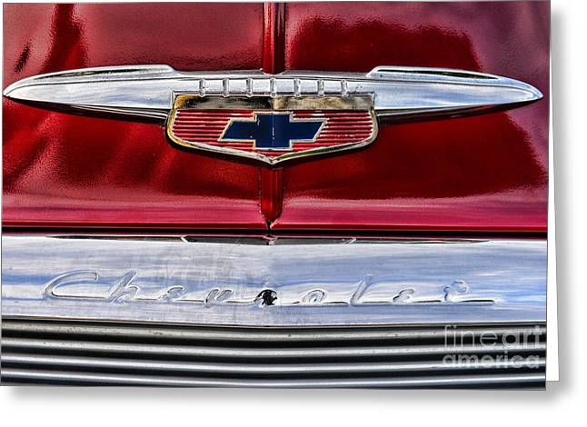 Chevy Truck Logo Vintage Greeting Card by Paul Ward
