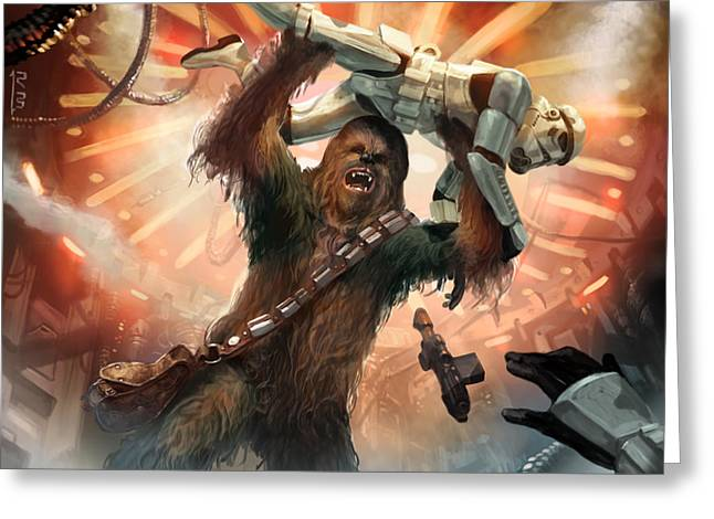 Chewbacca - Star Wars The Card Game Greeting Card by Ryan Barger