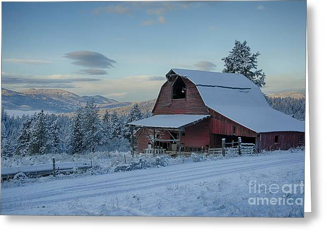 Chewelah Barn Greeting Card by Idaho Scenic Images Linda Lantzy