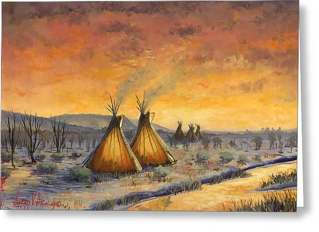 Cheyenne Comfort Greeting Card by Jeff Brimley