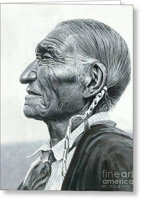 Cheyenne Leader Greeting Card by Stu Braks
