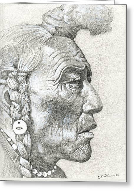 Bear Bull, Blackfoot Greeting Card