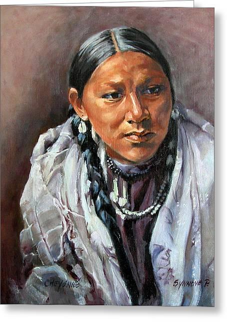 Cheyenne Woman Greeting Card