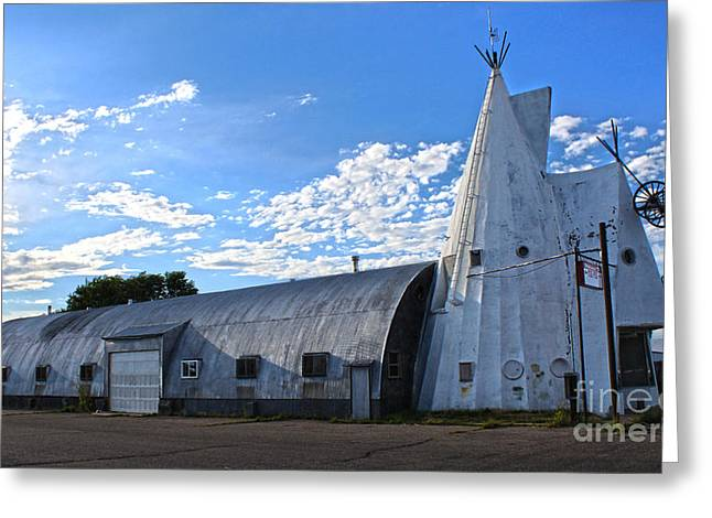 Cheyenne Wyoming Teepee - 01 Greeting Card by Gregory Dyer