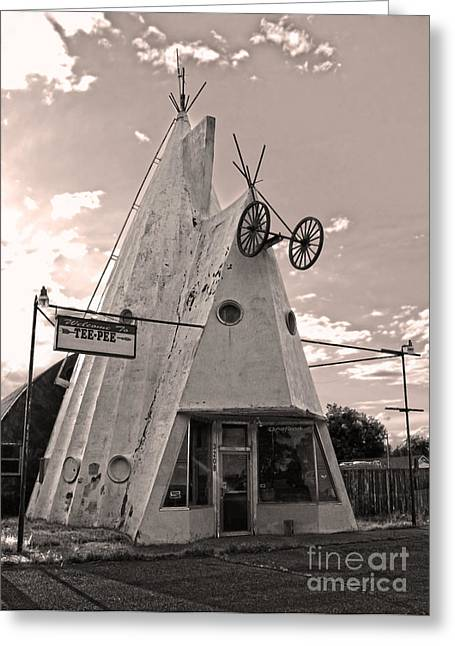 Cheyenne Wyoming Teepee - 04 Greeting Card by Gregory Dyer