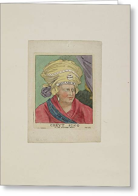 Cheyt Sing In His Eastern Dress Greeting Card by British Library