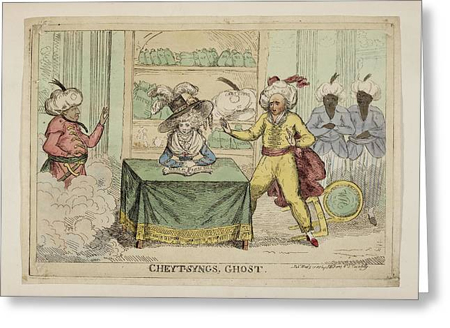 Cheyt-syngs' Ghost Greeting Card by British Library