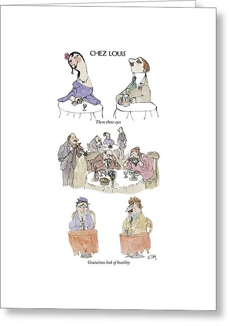 Chez Louis Greeting Card by William Steig
