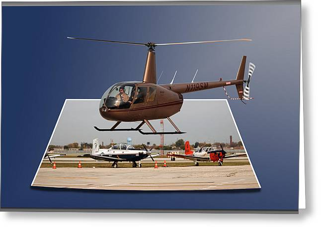 Chicago 08 Helicopter Landing Greeting Card