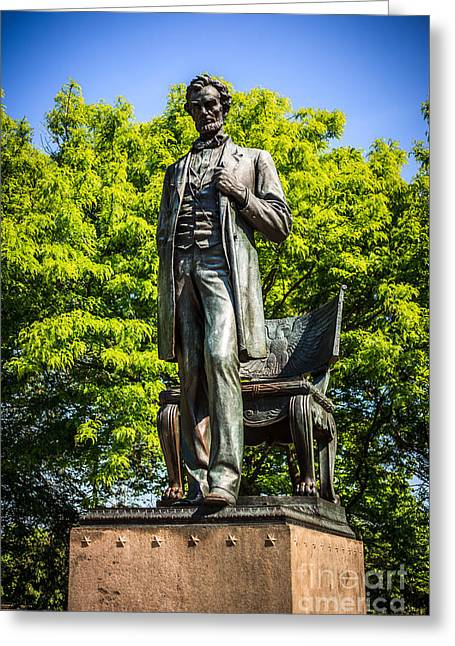 Chicago Abraham Lincoln The Man Standing Statue  Greeting Card by Paul Velgos