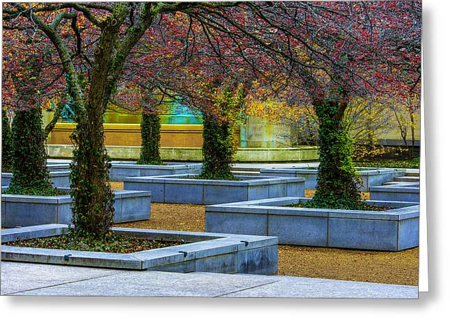 Chicago Art Institute South Garden Greeting Card by Raymond Kunst