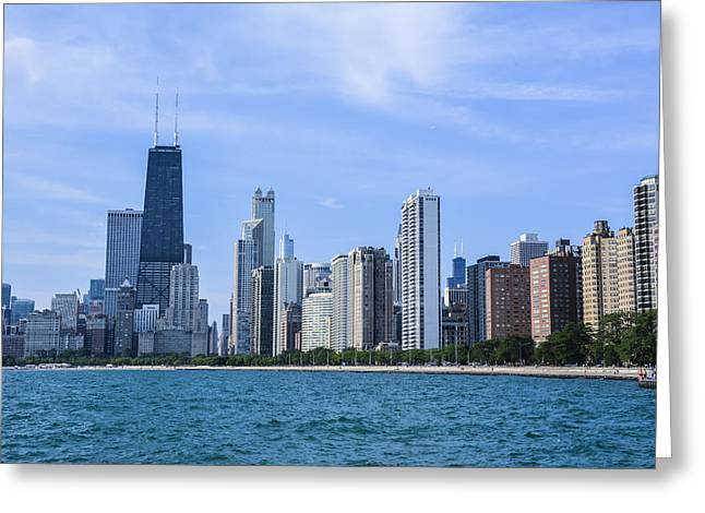 Chicago As Seen From North Ave Beach Greeting Card by Michael  Bennett