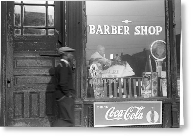 Chicago Barber Shop, 1941 Greeting Card by Granger