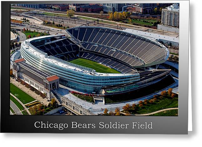 Chicago Bears Soldier Field Greeting Card by Thomas Woolworth