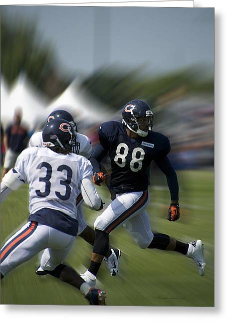 Chicago Bears Te Dante Rosario Training Camp 2014 03 Greeting Card by Thomas Woolworth