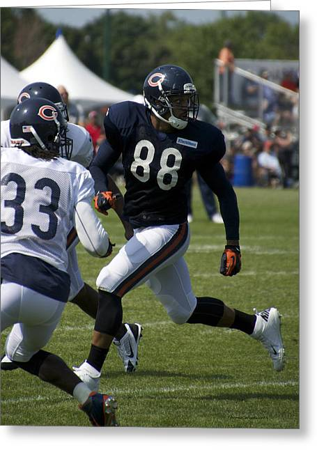 Chicago Bears Te Dante Rosario Training Camp 2014 04 Greeting Card by Thomas Woolworth