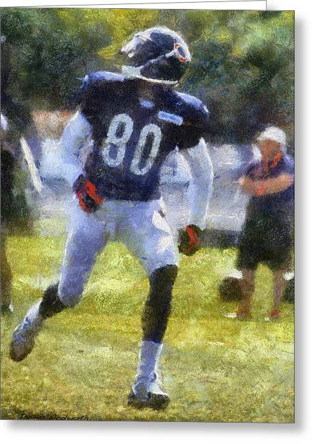 Chicago Bears Wr Armanti Edwards Training Camp 2014 Photo Art 02 Greeting Card