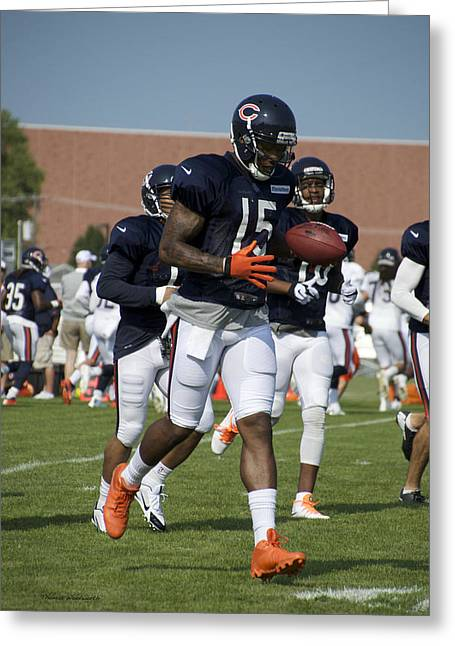 Chicago Bears Wr Brandon Marshall Training Camp 2014 02 Greeting Card