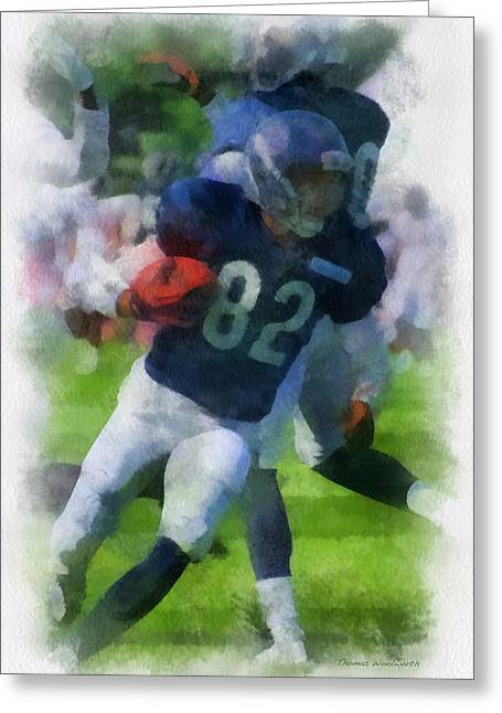 Chicago Bears Wr Chris Williams Training Camp 2014 Pa 01 Greeting Card