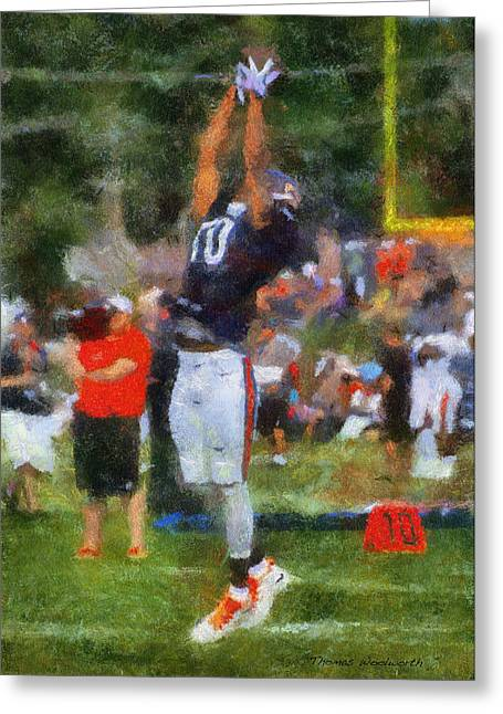 Chicago Bears Wr Marquess Wilson Training Camp 2014 Photo Art 02 Greeting Card