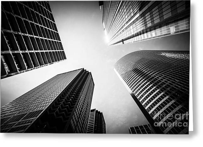 Chicago Black And White Architecture Greeting Card by Paul Velgos
