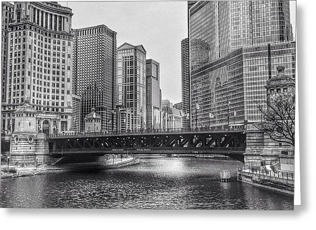 #chicago #blackandwhite #urban Greeting Card