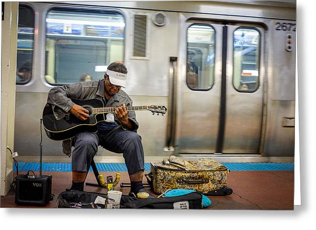 Chicago Bluesman Greeting Card
