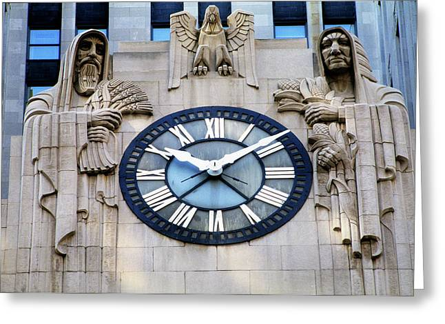 Chicago Board Of Trade Building Clock Greeting Card