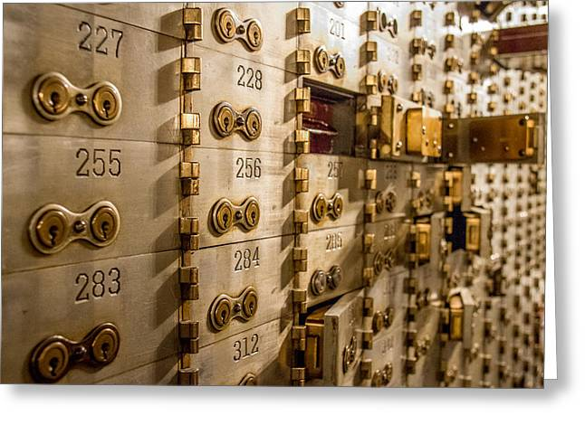 Chicago Board Of Trade Deposit Boxes Greeting Card by Mike Burgquist