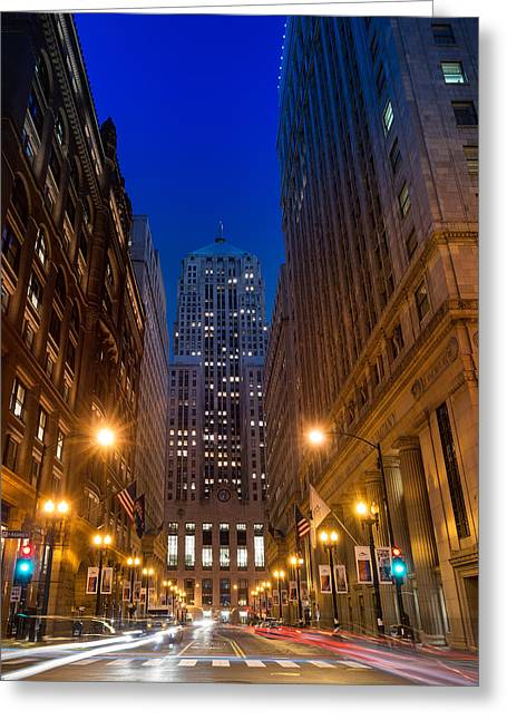 Chicago Board Of Trade Greeting Card by Steve Gadomski