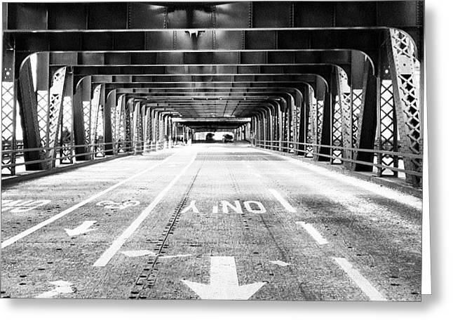 Chicago Wells Street Bridge Picture Greeting Card by Paul Velgos