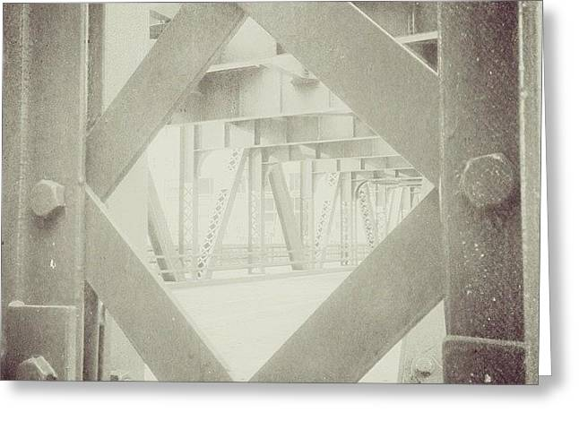 Chicago Bridge Ironwork Vintage Photo Greeting Card