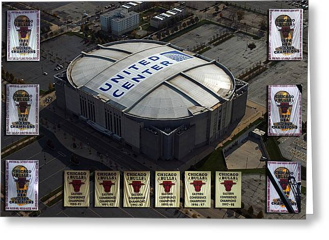 Chicago Bulls Banners Greeting Card by Thomas Woolworth
