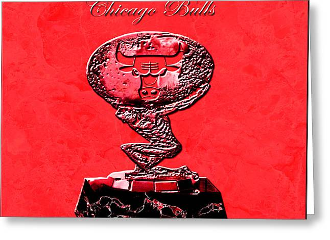Chicago Bulls Greeting Card by Brian Reaves
