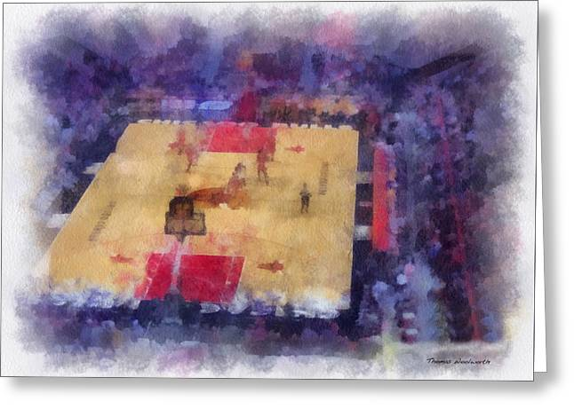 Chicago Bulls Game Day Photo Art 01 Greeting Card by Thomas Woolworth