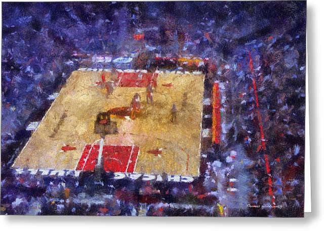 Chicago Bulls Game Day Photo Art 02 Greeting Card by Thomas Woolworth