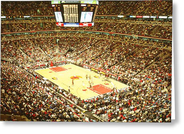 Chicago Bulls, United Center, Chicago Greeting Card by Panoramic Images