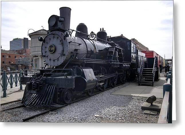 Chicago Burlington Quincy Steam Locomotive 710 Greeting Card