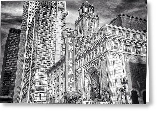 #chicago #chicagogram #chicagotheatre Greeting Card