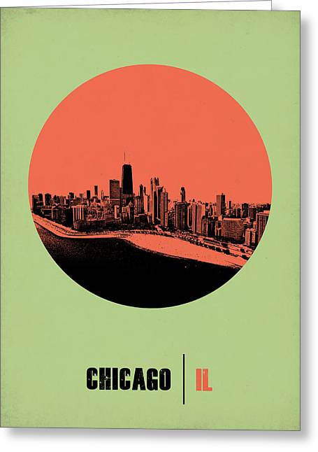 Chicago Circle Poster 1 Greeting Card