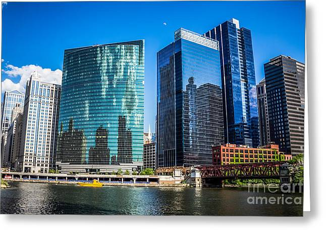 Chicago Cityscape Downtown City Buildings Greeting Card by Paul Velgos