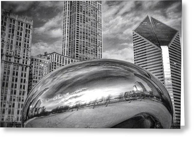 Chicago Bean Cloud Gate Hdr Picture Greeting Card by Paul Velgos