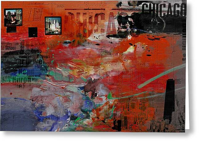 Chicago Collage 2 Alternative Greeting Card