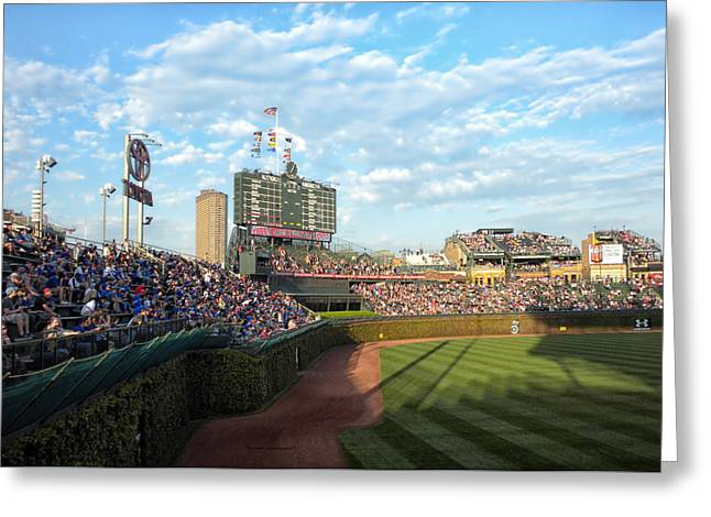 Chicago Cubs Scoreboard 03 Greeting Card by Thomas Woolworth