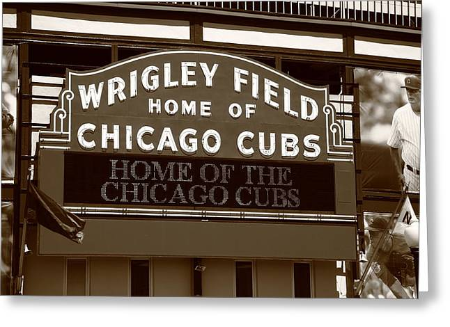 Chicago Cubs - Wrigley Field 25 Greeting Card by Frank Romeo