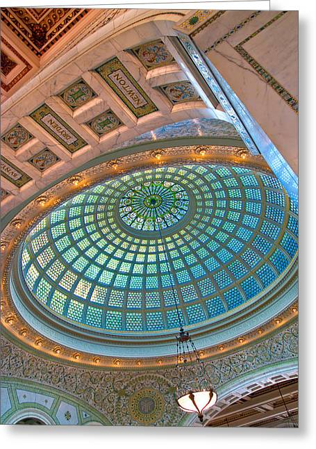 Chicago Cultural Center Tiffany Dome Greeting Card by Kevin Eatinger