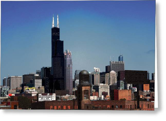 Chicago Greeting Card by David Blank