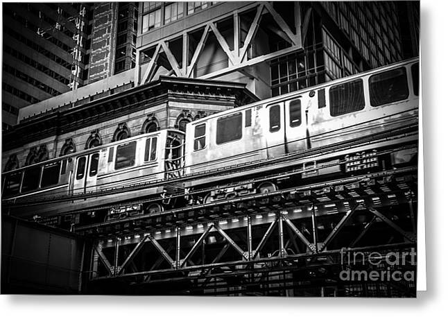 Chicago Elevated  Greeting Card by Paul Velgos
